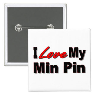 I Love My Min Pin Dog Gifts and Apparel