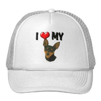 I Love My Min Pin Hat