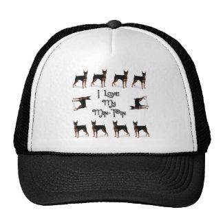 I Love My Min-Pin Mesh Hats