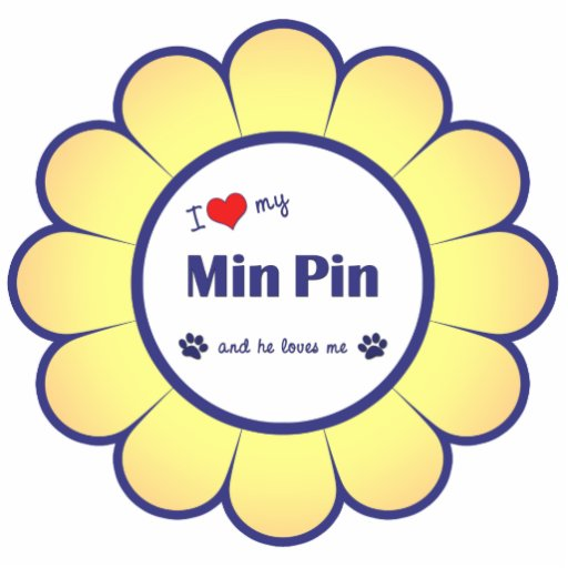 I Love My Min Pin (Male Dog) Cutout