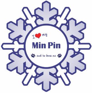 I Love My Min Pin (Male Dog) Statuette
