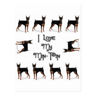 I Love My Min-Pin Postcard