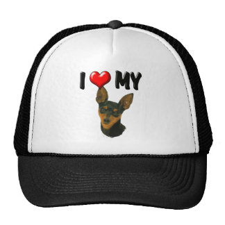 I Love My Min Pin Trucker Hat