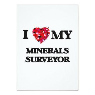 I love my Minerals Surveyor 5x7 Paper Invitation Card