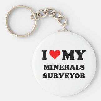 I Love My Minerals Surveyor Keychains