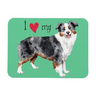 I Love my Mini American Shepherd Magnet