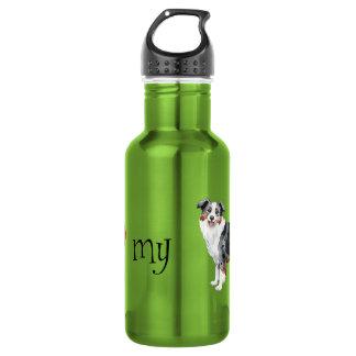 I Love my Mini American Shepherd Stainless Steel Water Bottle