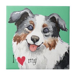 I Love my Mini American Shepherd Tile