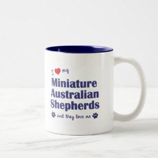 I Love My Mini Australian Shepherds (Multi Dogs) Coffee Mug