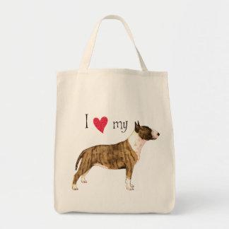 I Love my Mini Bull Terrier Bags