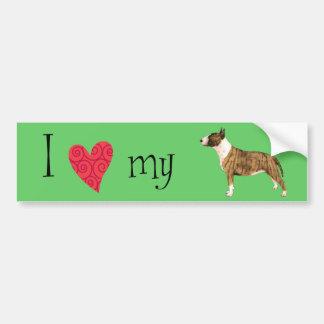 I Love my Mini Bull Terrier Bumper Sticker