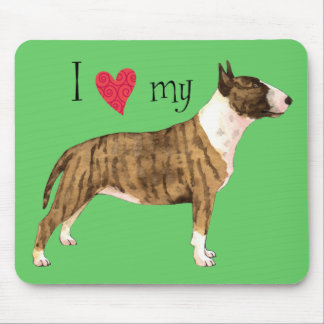 I Love my Mini Bull Terrier Mouse Pad