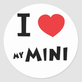 I love my mini classic round sticker
