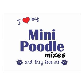 I Love My Mini Poodle Mixes (Multiple Dogs) Postcard