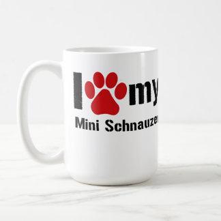 I Love My Mini Schnauzer Coffee Mug