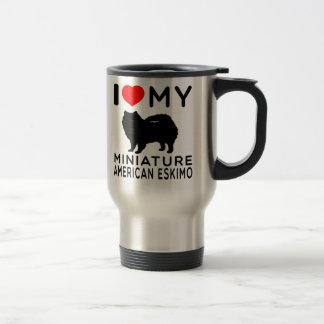 I Love My Miniature American Eskimo Travel Mug