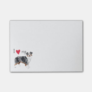 I Love my Miniature American Shepherd Post-it® Notes