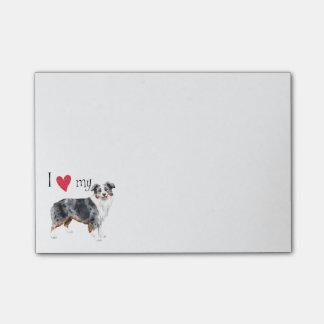 I Love my Miniature American Shepherd Post-it® Notes