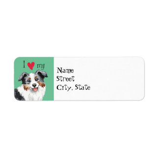 I Love my Miniature American Shepherd Return Address Label