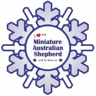 I Love My Miniature Australian Shepherd (Male Dog) Statuette