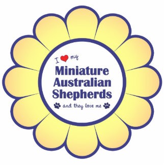 I Love My Miniature Australian Shepherds (Multi) Statuette