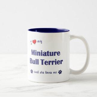 I Love My Miniature Bull Terrier (Female Dog) Coffee Mug