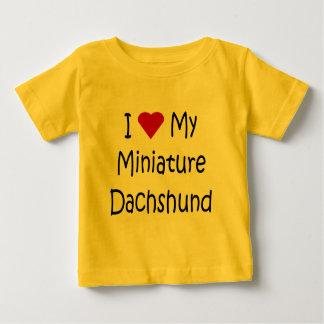 I Love My Miniature Dachshund Dog Lover Gifts Baby T-Shirt