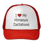 I Love My Miniature Dachshund Dog Lover Gifts Mesh Hats
