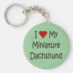 I Love My Miniature Dachshund Dog Lover Gifts Keychains