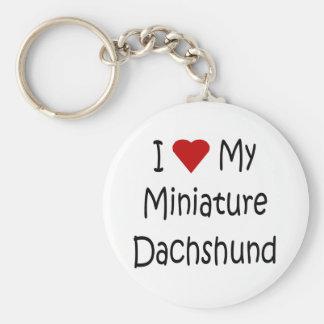 I Love My Miniature Dachshund Dog Lover Gifts Keychain