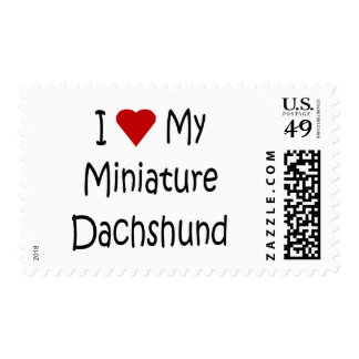 I Love My Miniature Dachshund Dog Lover Gifts Postage