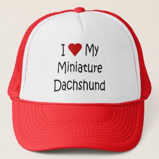 I Love My Miniature Dachshund Dog Lover Gifts Trucker Hat