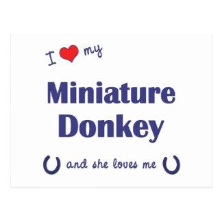 I Love My Miniature Donkey (Female Donkey) Postcard