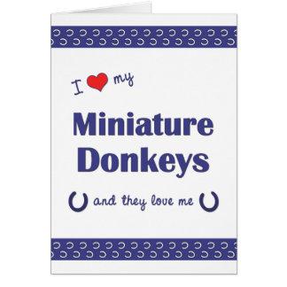 I Love My Miniature Donkeys (Multiple Donkeys) Card