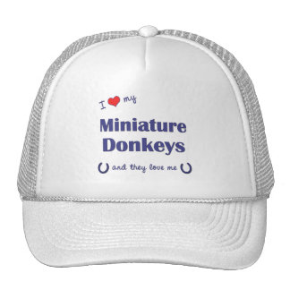 I Love My Miniature Donkeys (Multiple Donkeys) Hats