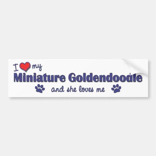 I Love My Miniature Goldendoodle (Female Dog) Bumper Sticker