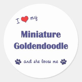 I Love My Miniature Goldendoodle (Female Dog) Classic Round Sticker