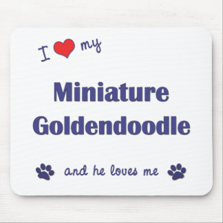 I Love My Miniature Goldendoodle (Male Dog) Mouse Pad