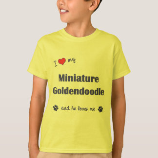 I Love My Miniature Goldendoodle (Male Dog) T-Shirt