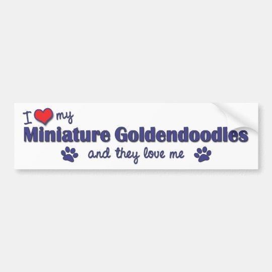 I Love My Miniature Goldendoodles (Multiple Dogs) Bumper Sticker