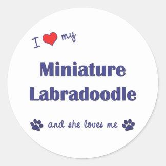 I Love My Miniature Labradoodle (Female Dog) Classic Round Sticker