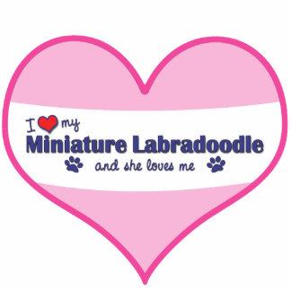 I Love My Miniature Labradoodle (Female Dog) Cutout