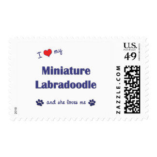 I Love My Miniature Labradoodle (Female Dog) Postage Stamp