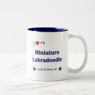 I Love My Miniature Labradoodle (Male Dog) Two-Tone Coffee Mug