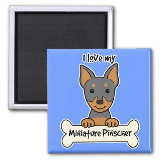 I Love My Miniature Pinscher 2 Inch Square Magnet