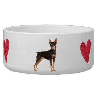 I Love my Miniature Pinscher Bowl