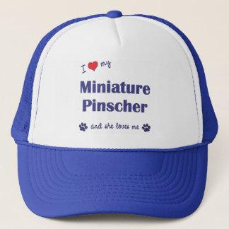 I Love My Miniature Pinscher (Female Dog) Trucker Hat