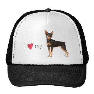 I Love my Miniature Pinscher Mesh Hat