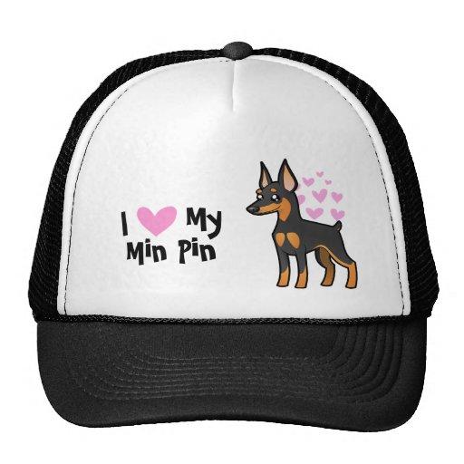 I Love My Miniature Pinscher / Manchester Terrier Hats