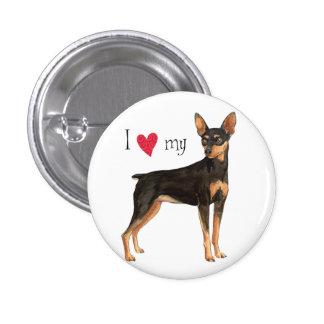 I Love my Miniature Pinscher Pinback Button